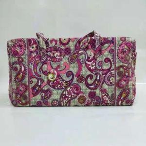 Vera Bradley large duffel Bag Paisley meets plaids